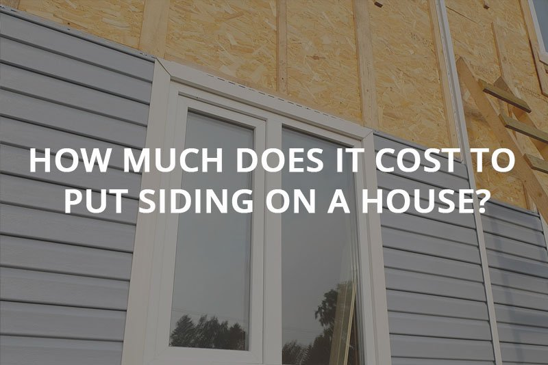 How much does it cost to put siding on a house?