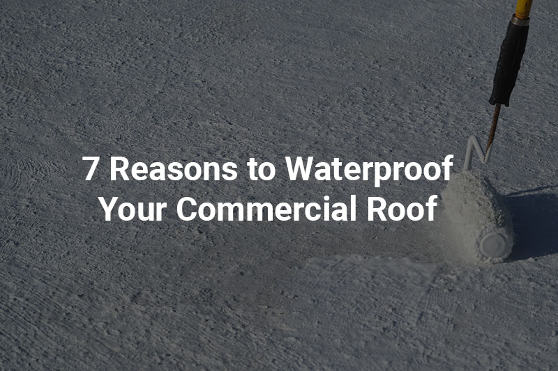 waterproof roof coating being added to a commercial roof