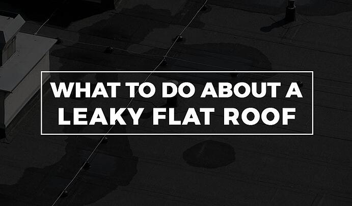 what to do about a leaky flat roof