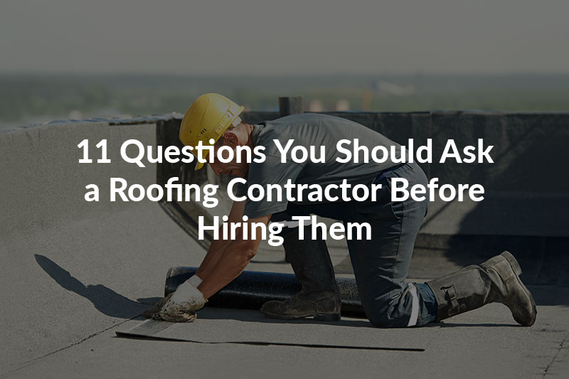 Important questions to ask your roofer before signing a contract with them.
