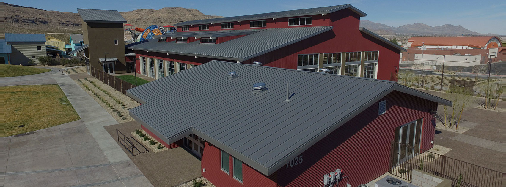 summerlin acquatic center roof metal work
