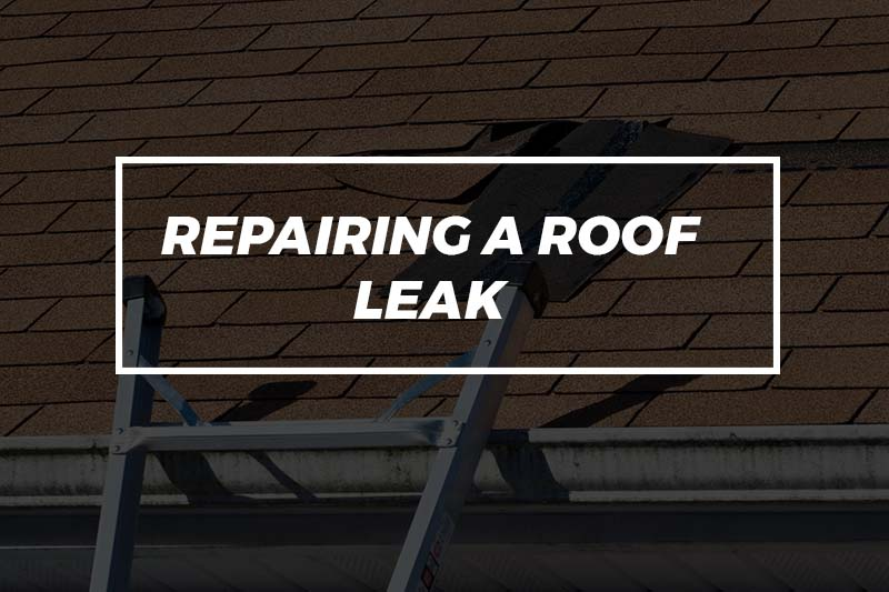 repairing a roof leak